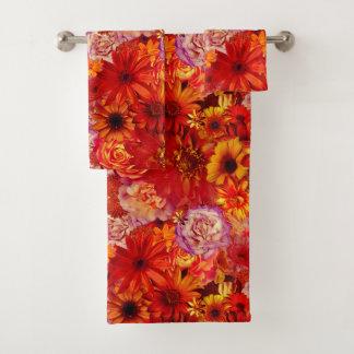 Rojoの花の明るい花束の豊富で猛烈なデイジー バスタオルセット