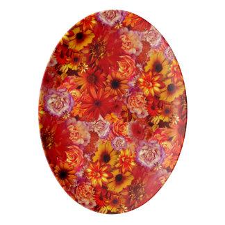 Rojoの花の明るい花束の豊富で猛烈なデイジー 磁器大皿