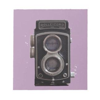 Rolleicordのすべてのための対の反射カメラのギフト ノートパッド