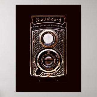 Rolleicordのアール・デコのカメラ ポスター