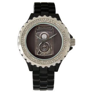 Rolleicordのアール・デコのカメラ 腕時計