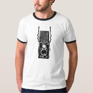 Rolleiflexの対レンズの反射のヴィンテージのカメラのティー Tシャツ
