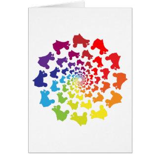 rollerskateの虹の円 カード