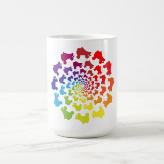 rollerskateの虹の円 コーヒーマグカップ