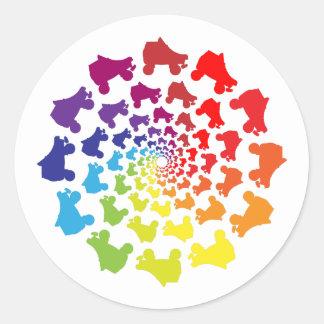 rollerskateの虹の円 ラウンドシール