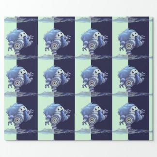 """ROLOのロボットかわいい30"""" x 60'   漫画の包装紙 ラッピングペーパー"""