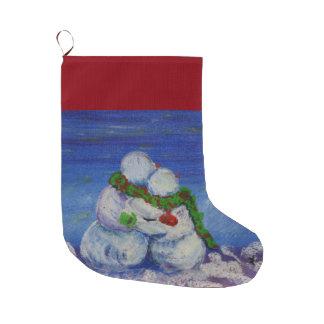 Romancingの雪だるまのクリスマスのストッキング ラージクリスマスストッキング