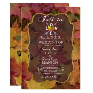 Romantic Fall in Love Wedding Invitation 12.7 X 17.8 インビテーションカード