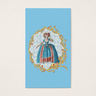 Romantic Marie Antoinette business card Blue 名刺