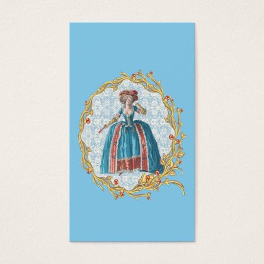 Romantic Marie Antoinette business card Blue 名刺