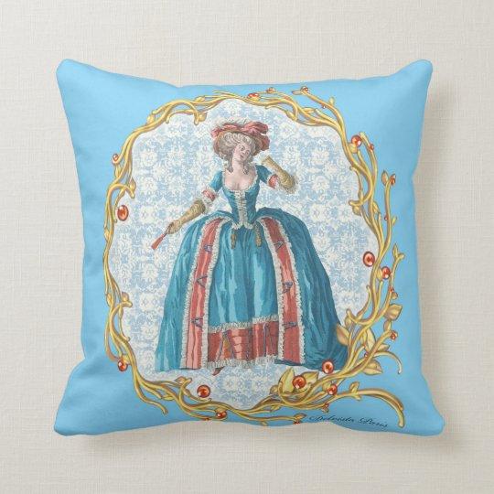 Romantic Marie Antoinette pillow Blue クッションB クッション