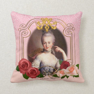 Romantic Marie Antoinette Throw Pillow Pink クッション
