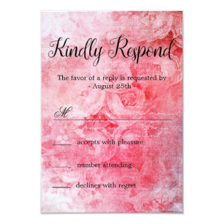 Romantic Pink Old Rose Rustic カード