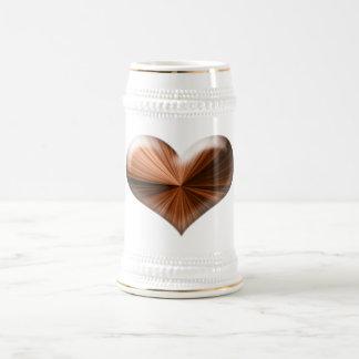 Romanticsのためのワウ3Dのハート! ビールジョッキ