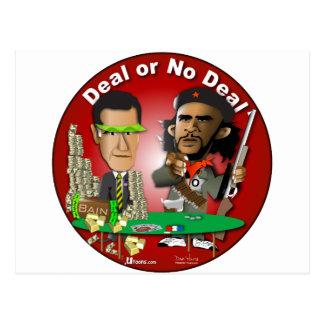 RomneyおよびCheオバマ ポストカード