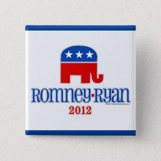 Romneyかライアンの愛国者象 5.1cm 正方形バッジ