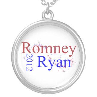 Romneyかライアンの星の波 シルバープレートネックレス