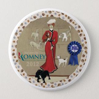Romneyのための愛犬家 10.2cm 丸型バッジ