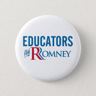 Romneyのための教育者 5.7cm 丸型バッジ