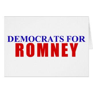 Romneyのための民主党員 カード