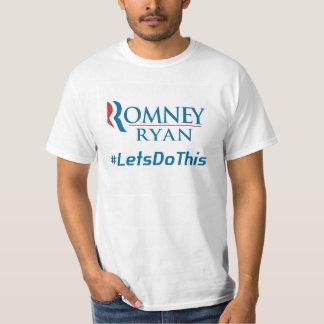 Romneyはライアン2012年のLets Hashtagのこの前部及び背部をします Tシャツ
