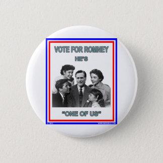 "Romneyは""私達の1つ"" FNBです 5.7cm 丸型バッジ"