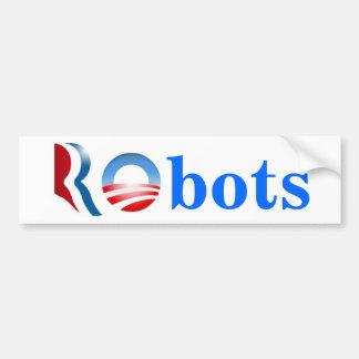 Romneyオバマのロボット バンパーステッカー