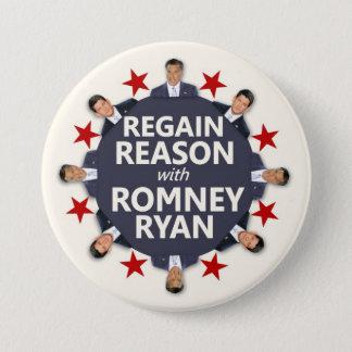Romneyライアンとの回復の理由 7.6cm 丸型バッジ