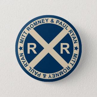 Romneyライアンのアメリカの交差道路ボタン 5.7cm 丸型バッジ