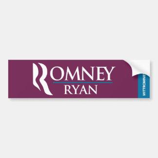 Romneyライアンのロゴのバンパーステッカーの紫色 バンパーステッカー