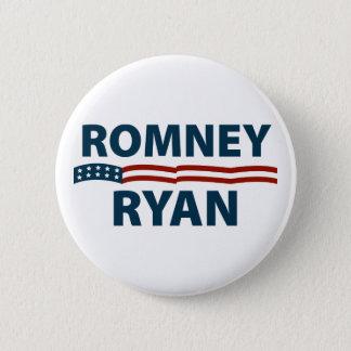 Romneyライアンの星条旗 5.7cm 丸型バッジ