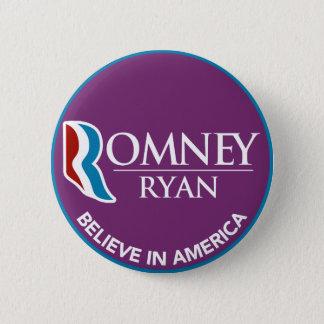 Romneyライアンはアメリカの円形の紫色で信じます 5.7cm 丸型バッジ