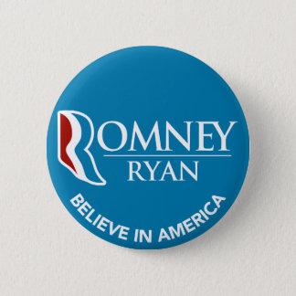 Romneyライアンはアメリカの円形の青で信じます 5.7cm 丸型バッジ