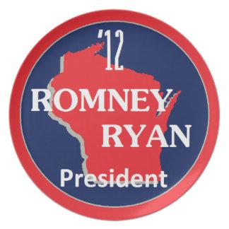 Romneyライアンウィスコンシン プレート