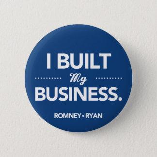 Romneyライアン私は私のビジネスを造りました(青い) 5.7cm 丸型バッジ