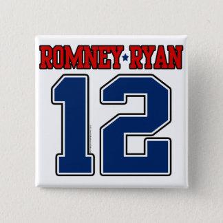 Romneyライアン12のスポーティな学校代表 5.1cm 正方形バッジ