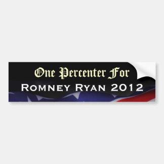 Romneyライアン2012のバンパーステッカーのための1 Percenter バンパーステッカー
