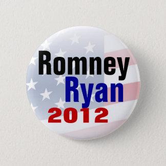 Romneyライアン2012の共和党員ボタン 5.7cm 丸型バッジ