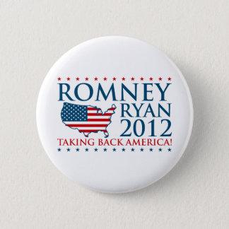 Romneyライアン2012年 5.7cm 丸型バッジ