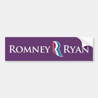 RomneyライアンRのロゴの紫色の背景のバンパー バンパーステッカー