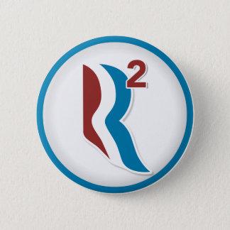 RomneyライアンRは円形ロゴを平方しました(白い) 5.7cm 丸型バッジ
