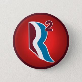 RomneyライアンRは円形ロゴを平方しました(赤い) 5.7cm 丸型バッジ