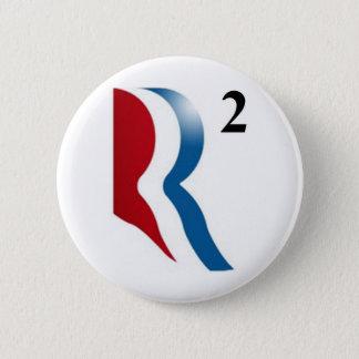 "Romney及びライアン2012年- ""平方される"" R 5.7cm 丸型バッジ"