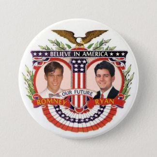 Romney及びライアン: R&R Kidz 7.6cm 丸型バッジ