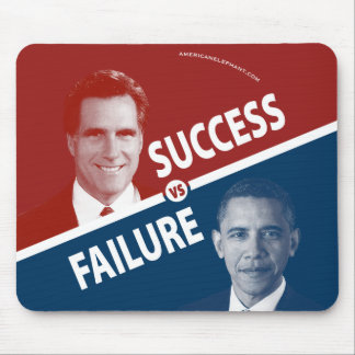 Romney対オバマ-成功対失敗 マウスパッド