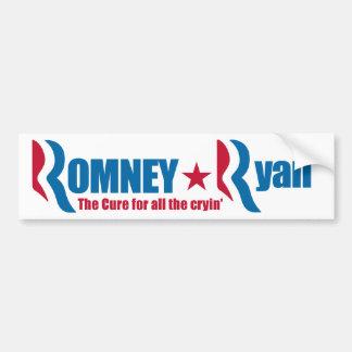 Romney -ライアンすべてのcryinのための治療 バンパーステッカー