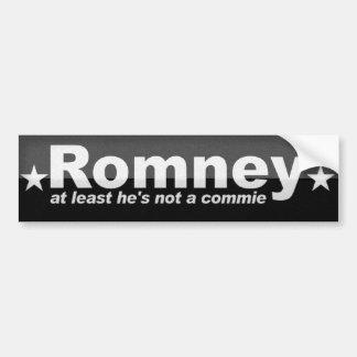 Romney -少なくとも彼は社会主義ではないです バンパーステッカー