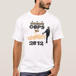 Romney 2012年のための唐辛子スプレーの警察官 tシャツ