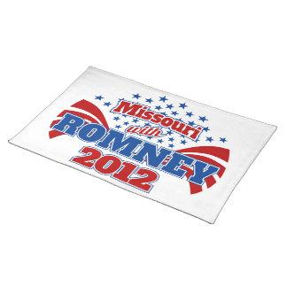Romney 2012年のミズーリ ランチョンマット