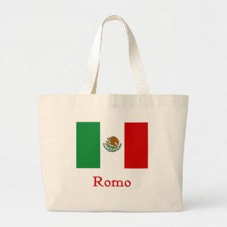 Romoのメキシコ旗 ラージトートバッグ
